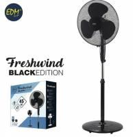 Freshwind ventilator til gulv Ø40cm sort