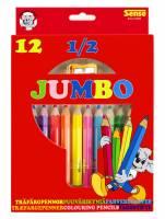 Sense Farveblyanter Jumbo mini, pakke med 12 farver