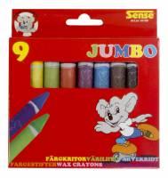 Sense fedtfarver Jumbo, pakke med 9 farver
