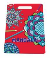 Sense Malebog med håndtag Mandala - Frie former, 36 sider