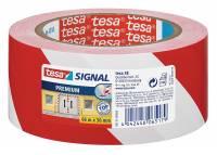 Tesa advarselstape PVC 50mmx66m rød/hvid