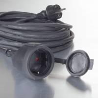 Gummikabel H05RR-F 3G1.5 til udendørsbrug 20 meter sort