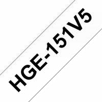 Brother labeltape HGe-151V5 24mm sort på klar