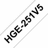 Brother labeltape HGe-251V5 24mm sort på hvid