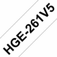 Brother labeltape HGe-261V5 36mm sort på hvid