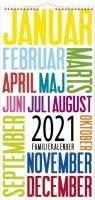 Mayland Familiekalender Trendart 22x43cm 21 0661 90