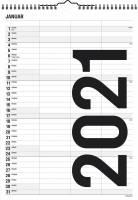 Mayland Familiekalender Black & white 24x34cm 3 kolonner 21 0665 20