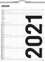 Mayland Familiekalender Black & white 29,5x39cm 5 kolonner 21 0665 50