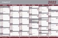Mayland Kartonkalender halvårs 44x29cm 22 0630 00 (2022)