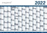 Mayland Kæmpekalender 13mdr vinyl 100x70cm 22 0650 00 (2022)