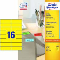 Avery 3455 etiketter 105x37mm gul