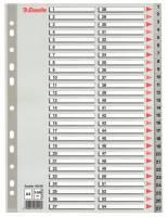 Esselte register A4 grå 1-54