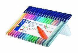 Staedtler triplus marker, 20 farver