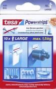 Tesa Powerstrips Large dobbeltklæbende 10 strips hvid