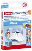 Tesa Powerstrips Small dobbeltklæbende 14 strips hvid