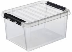 Plastikkasse Smart Store 15 liter med låg klar