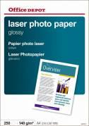 Office Depot fotopapir laser 140g A4 Glossy, 250 ark