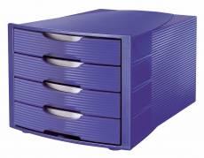 Office Depot skuffekabinet med 4 skuffer blå