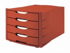 Office Depot skuffekabinet med 4 skuffer rød