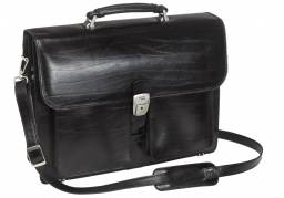 "Pierre computertaske i læder 16"" sort"
