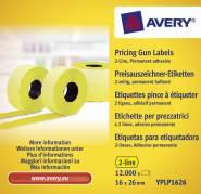 Avery prisetiketter til Double Line 26x16mm gul