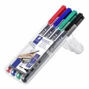 Staedtler Lumocolor M 0,8mm 317WP-4 permanent, sæt a 4 farver