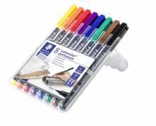 Staedtler Lumocolor OHP-pen  S 0,4mm , 8 ass farver