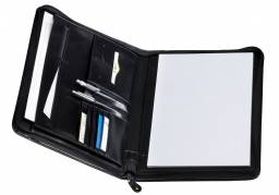 Pierre portfoilo med lynlås A4 sort