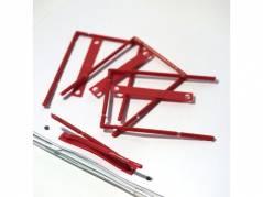 B-binder med overligger og etiket rød