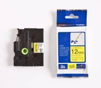 Brother tape TZeFX631 12mm sort på gul