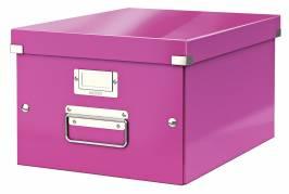Leitz WOW arkivboks Click & Store A4 pink