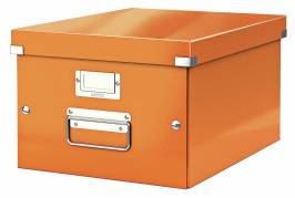 Leitz WOW arkivboks Click & Store A4 orange