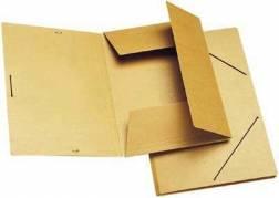 Dokumentmappe A4 med 3 klapper og elastik brun