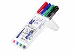 Staedtler Lumocolor whiteboardmarker 1,0mm, 4 ass farver