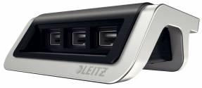 Leitz Style USB strømoplader satin sort