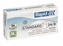 Rapid Standard hæfteklamme 24/6 galvaniserede, 1000 stk