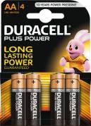 Duracell Batteri Plus Power AA MN1500, 4 stk