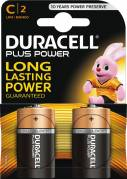 Duracell Plus Power C batterier, pakke a 2 stk