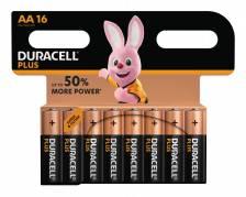 Duracell Plus Power AA  batterier, 16 stk