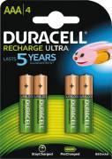 Duracell genopladelig AAA batterier 800mAh, 4 stk