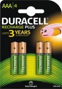 Duracell genopladelig AAA batterier, 4 stk