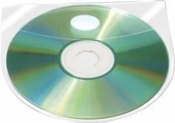 BNT selvklæbende CD-lomme med klap 127x127mm