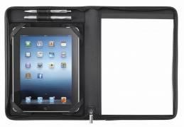 Eurostyle dokumentmappe til tablets kunstlæder A4 sort