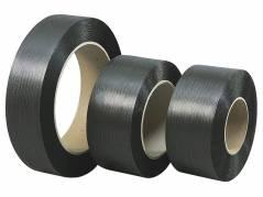 Strapbånd PP sort 12x0,63mm ø280mm 2100m 148kg træk