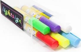 Penne til lysskilte 8mm flourserende, sæt a 6 stk