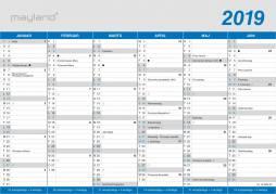 Mayland kontorkalender A4 klassisk 30x21cm 19059000
