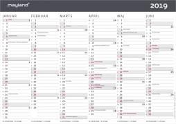 Mayland kontorkalender A4 moderne 30x21cm 19059050