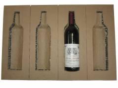 Vinemballage til forsendelse af 4 stk 3/4 liter flasker brun