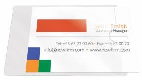 3L visitkortlommer 60x95mm selvklæbende, åben kort side