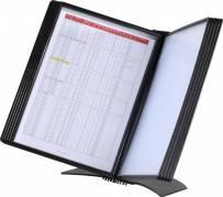 Easymount registersystem A4 til 10 lommer bordmodel sort